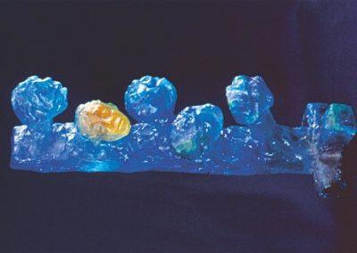 Barre de têtes - Pâte de cristal 45x12 cm